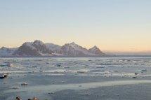 Midnight light at the Antarctic Peninsula