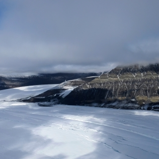 Mountain range of Alexander Island