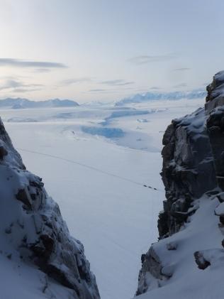 View over Laubeuf Fjord